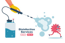 Disinfection Services Concept....