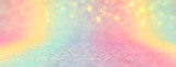 Fototapeta Rainbow - Image of rainbow pastel glitter background