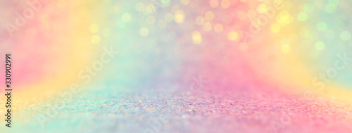 Image of rainbow pastel glitter background