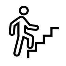 Climbing Stairs Vector Or Illu...