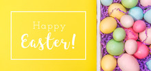 Multicolor Eggs In A White Tra...