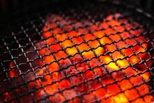 Macro Close Up Of Empty Barbec...