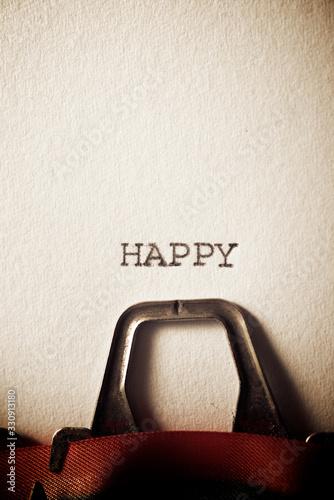Obraz Happy concept view - fototapety do salonu