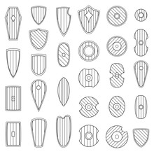 Set Of Simple Monochrome Vecto...
