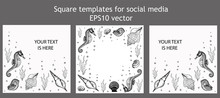 Set Of Square Templates For So...