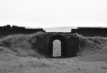 Black And White Image Of Entry...