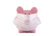 Pink Piggy Bank With Protectiv...