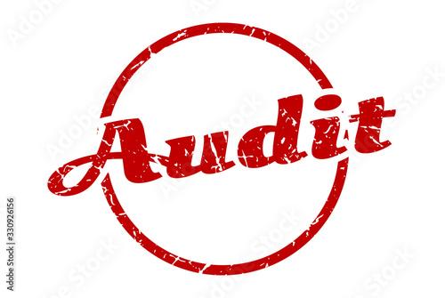 Photo audit sign. audit round vintage grunge stamp. audit