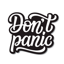 Don't Panic  Lettering