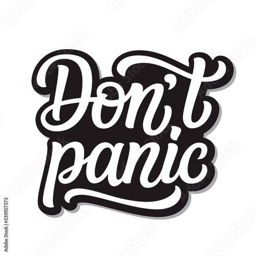 Fotomural Don't panic  lettering