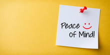 White Sticky Note With Peace O...