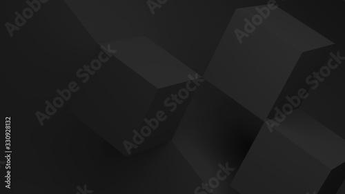 Fototapeta Abstract minimal background with black cubes 3 d obraz na płótnie