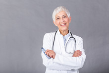 Portrait Of Senior Female Doct...