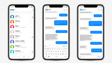Realistic Mockup App Messenger...