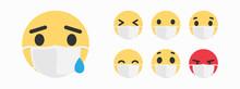 Sick Emoji. Mask With Emoji Co...