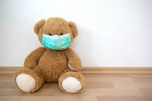 Teddy Bear With Face Mask