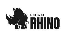 African Rhino Silhouette. Logo...
