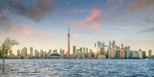 Toronto city Skyline at sunset Canada