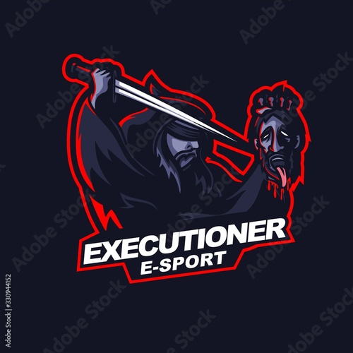 executioner beheading e-sport gaming mascot logo template Tablou Canvas
