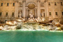The Famous Fontana Di Trevi In...