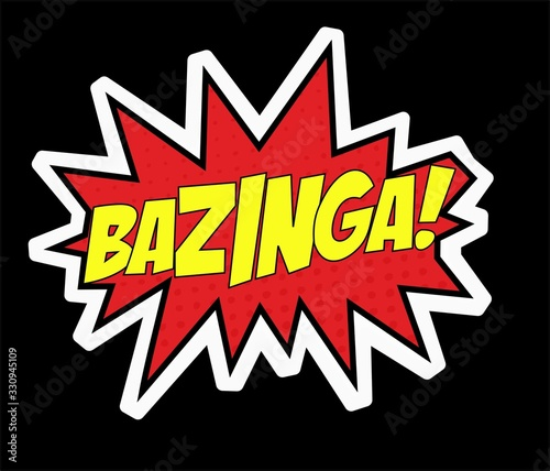 Photo Bazinga The big bang theory sticker comics sheldon cooper text funny теория боль