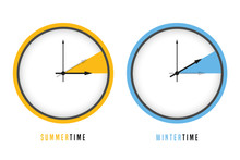 Summer And Winter Time Clock D...