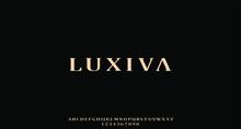 Luxiva, The Luxury Type Elegant Font And Glamour Alphabet Vector Set