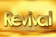 Revival In Golden Stars And Yellow Background