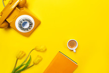 Yellow Layout With Retro Rotar...