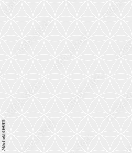 Abstract geometric vector seamless pattern Wallpaper Mural