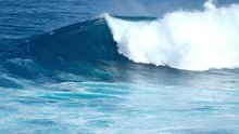 Huge Ocean Wave Breaks At The ...