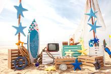 Set Design On Beach For Summer...