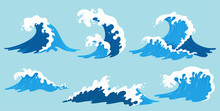 Vector Sea Waves Collection. I...