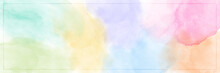 Abstract Pastel Color Watercolor For Background