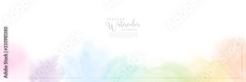 Obraz Abstract pastel watercolor for background - fototapety do salonu