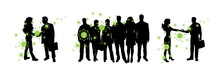 Vector Silhouette Of Group Of ...