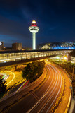 Singapore cityscape series - Singapore Changi International Airport at night.