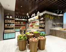 3d Render Of Supermarket Grocery