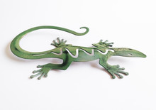 Green Wall Lizard In Wrought I...
