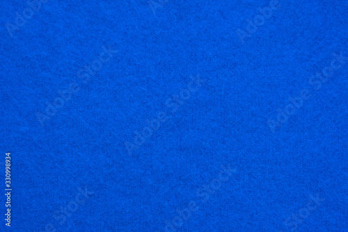Photo Blue knitted angora wool texture
