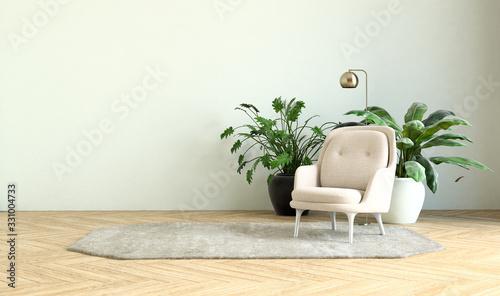 Photographie modern interior of a living room