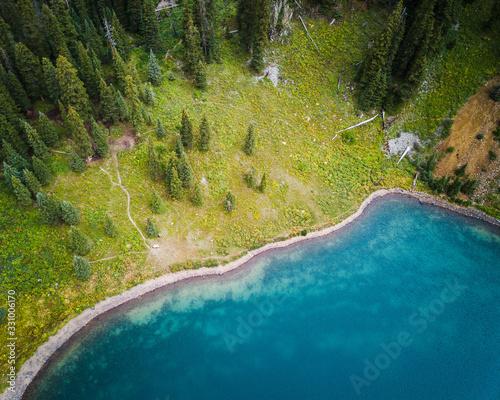 Blue green alpine lakes