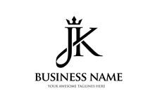 Elegant Initial Letter Jk With...