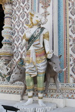 Detail, Statue Of Wat Pariwat (Beckham's Temple) In Bangkok City, Thailand. Religious Traditional National Thai Architecture. Landmark, Sight, Architectural Monument Of Bangkok, Thailand. Asian Temple