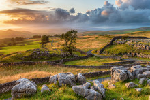 A Beautiful Sunset Over The Yorkshire Dales National Park