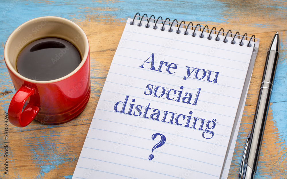 Are you social distancing? <span>plik: #331023767 | autor: MarekPhotoDesign.com</span>