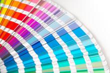 Close-up On Color Palette Guid...