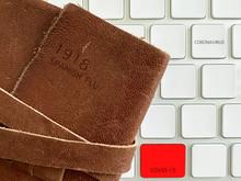 Spanish Flu Notebook Of 1918, With Digital Keyboard Of 2019 Coronavirus