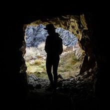 Silhouette Of Woman In Mine En...