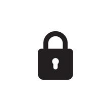 Lock Icon Isolated On White Background